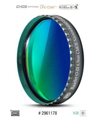 """Baader O-III 2"""" Narrowband-Filter (6.5nm) - CMOS-optimized"""