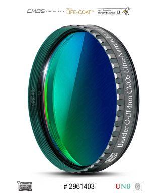 """Baader O-III 2"""" Ultra-Narrowband-Filter (4nm) - CMOS-optimized"""