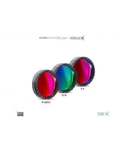 """BP2961650 -- Baader 6.5nm Narrowband-Set Filtri 1¼"""" - CMOS-optimized (H-alpha / O-III / S-II)"""