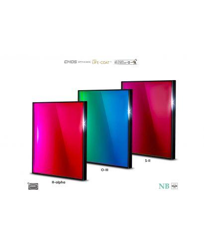 BP2961655 -- Baader 6.5nm Narrowband-Set Filtri 50x50mm - CMOS-optimized (H-alpha / O-III / S-II)