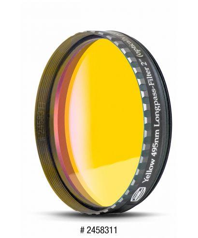 "BP2458311 -- Baader Filtro Giallo visuale da 2"" (50.8mm). 495nm"