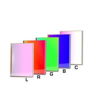 Baader Set di filtri LRGBC parafocali quadrati da 50x50mm per CCD