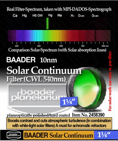 "Baader Filtro Continuum da 1¼"" (31.8mm) 540nm-- BP2458390"