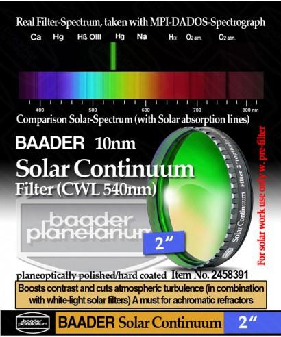 """Baader Filtro Continuum da 2"""" (50.8mm) 540nm -- BP2458391"""