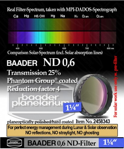 "Baader Filtro Neutro ND da 1¼"" (31.8mm) -- BP2458343"