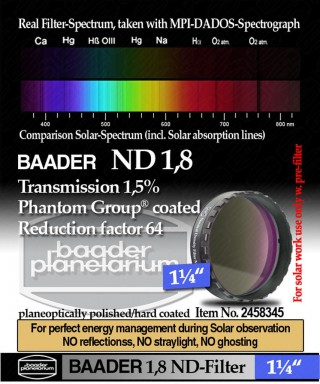 "Baader Filtro Neutro ND da 1¼"" (31.8mm) -- BP2458345"