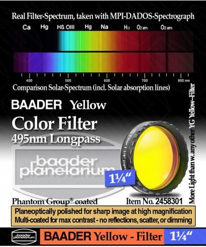 """Baader Filtro Giallo visuale da 1¼"""" (31.8mm) -- BP2458301"""