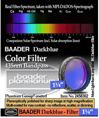 "Baader Filtro Blu scuro visuale da 1¼"" (31.8mm) -- BP2458302"