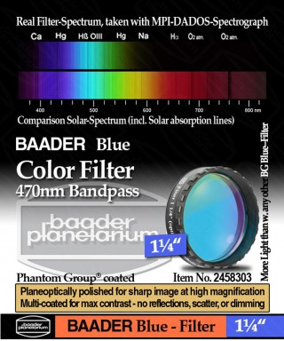 "Baader Filtro Blu visuale da 1¼"" (31.8mm) -- BP2458303"