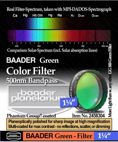 "Baader Filtro Verde visuale da 1¼"" (31.8mm) -- BP2458304"