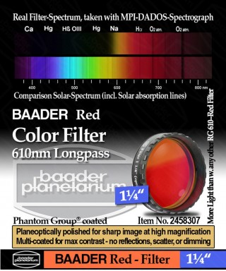 "Baader Filtro Rosso visuale da 1¼"" (31.8mm) -- BP2458307"