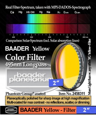 "Baader Filtro Giallo visuale da 2"" (50.8mm) -- BP2458311"
