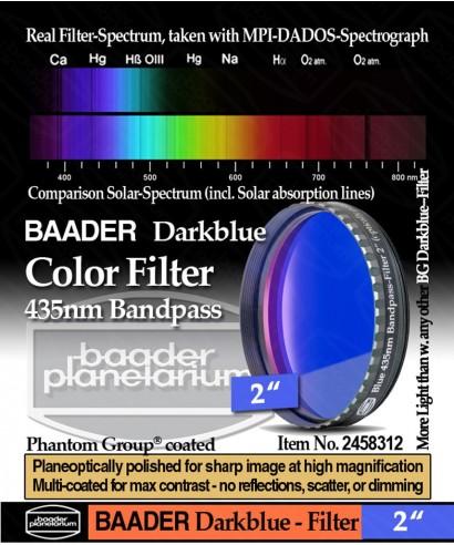 """Baader Filtro Blu scuro visuale da 2"""" (50.8mm) -- BP2458312"""