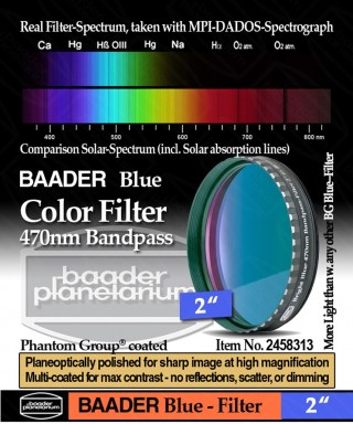 "Baader Filtro Blu visuale da 2"" (50.8mm) -- BP2458313"