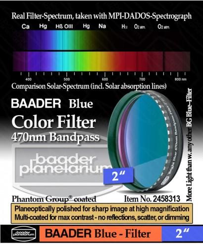 "Baader Filtro Blu visuale da 2"" (50.8mm) -- BP2458313"