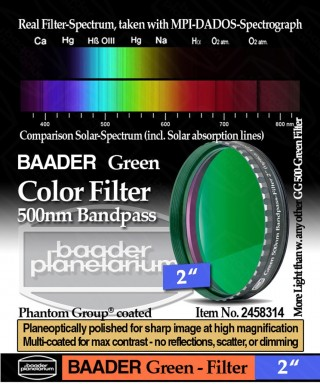 "Baader Filtro Verde visuale da 2"" (50.8mm) -- BP2458314"