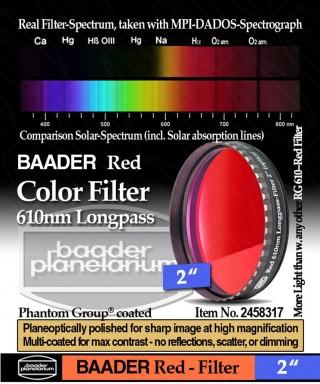 "Baader Filtro Rosso visuale da 2"" (50.8mm) -- BP2458317"