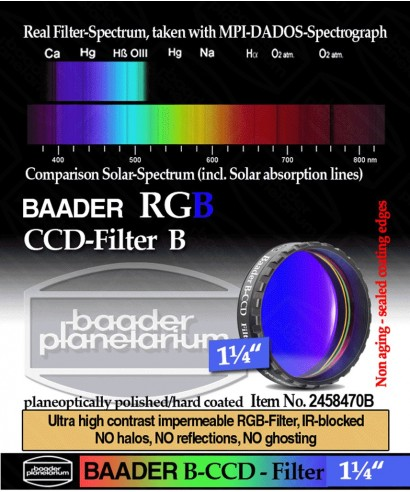 """Baader Filtro B (Blu) da 1¼"""" (31.8mm) -- BP2458470B"""