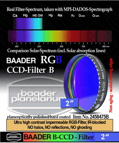 """Baader Filtro B (Blu) da 2"""" (50.8mm) -- BP2458475B"""