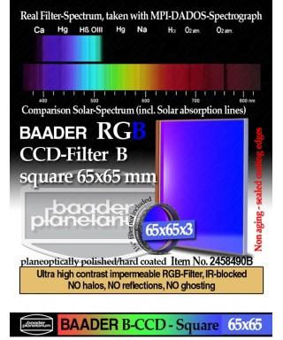 Baader Filtro B (Blu) quadrato da 65x65mm -- BP2458490B