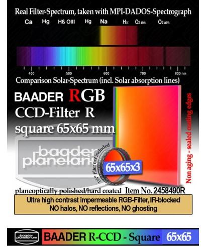 Baader Filtro R (Rosso) quadrato da 65x65mm -- BP2458490R