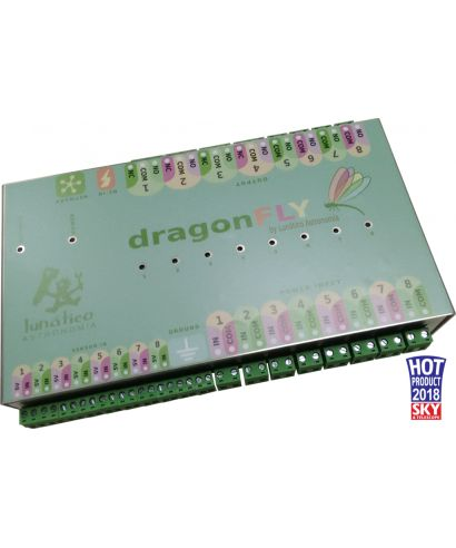 Dragonfly observatory control box con Din Rail cradle
