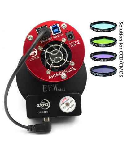 ZWO ASI 1600 MMP Cooled Camera EFWmini LRGB 31 mm Optolong