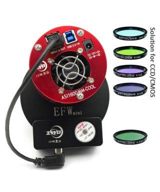 ZWO ASI 1600 MMP Cooled Camera EFWmini LRGB 31 mm Ha 31mm Optolong