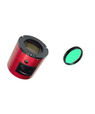 ZWO ASI 128 MC Pro USB3.0 Cooled Color Astronomy Camera L-PRO 2″ Optolong