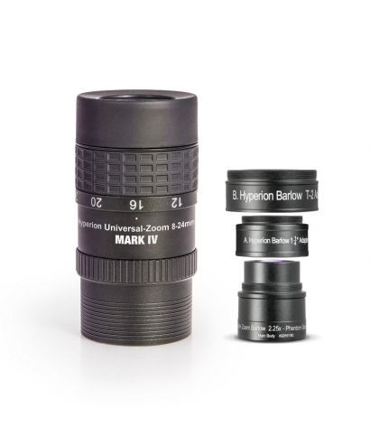 Baader Oculare Zoom Hyperon MARK IV 8-24mm + Hyperion Barlow